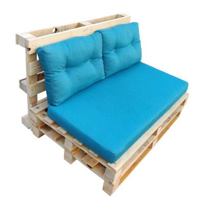 Диван из поддонов и паллет без подлокотников стиль Loft (Лофт), с подушками