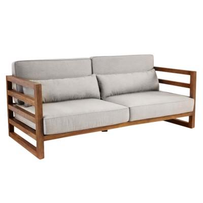 Диван из поддонов и паллет прямой с подушками, стиль Loft (Лофт)