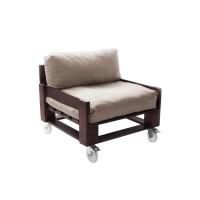 Кресло из поддонов, паллет, стиль Loft (Лофт) на колесах с подушкой