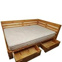 Кровать из поддонов и паллет с ящиками, стиль Loft (Лофт)