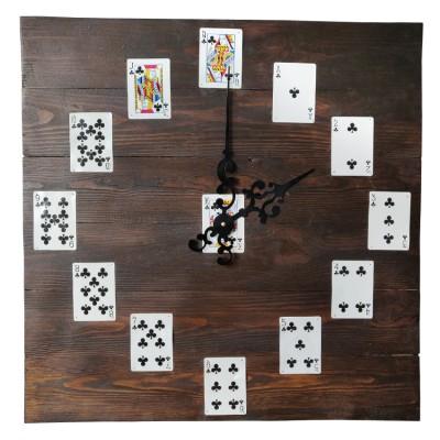 Часы в Loft (Лофт) стиле, из поддонов и паллет, карты
