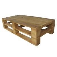 Стол из поддонов, паллет, стиль Loft (Лофт), натуральное дерево, цвет дерево 1200*600*300