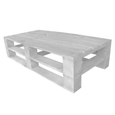 Стол из поддонов, паллет, стиль Loft (Лофт), натуральное дерево, цвет белый 1200*600*300