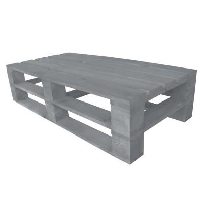 Стол из поддонов, паллет, стиль Loft (Лофт), натуральное дерево, цвет серый 1200*600*300
