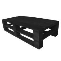 Стол из поддонов, паллет, стиль Loft (Лофт), натуральное дерево, цвет черный 1200*600*300