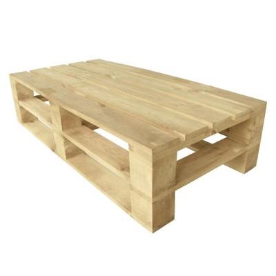 Стол из поддонов, паллет, стиль Loft (Лофт), натуральное дерево, цвет светло-бежевый 1200*600*300