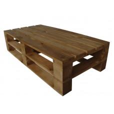 Стол из поддонов, паллет, стиль Loft (Лофт), натуральное дерево, цвет светло-коричневый 1200*600*300