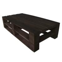 Стол из поддонов, паллет, стиль Loft (Лофт), натуральное дерево, цвет темно-коричневый 1200*600*300
