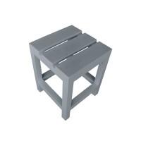 Стул-табуретка серый 350*350*450