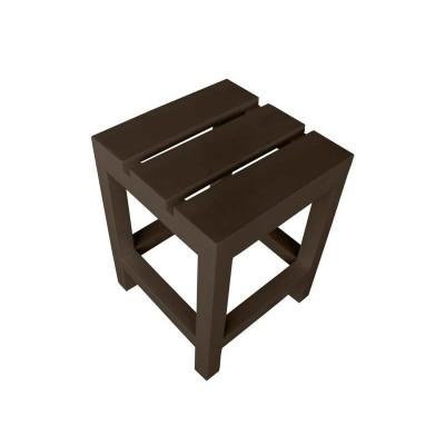Стул-табуретка из поддонов, паллет, стиль Loft (Лофт), натуральное дерево, цвет темно-коричневый 350*350*450
