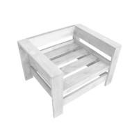 Кресло из поддонов, паллет, стиль Loft (Лофт), натуральное дерево, цвет белый 800*600*500