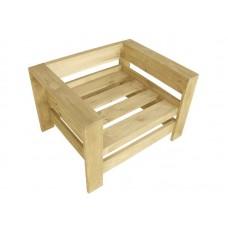 Кресло из поддонов, паллет, стиль Loft (Лофт), натуральное дерево, цвет светло-бежевый 800*600*500