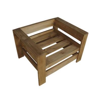 Кресло из поддонов, паллет, стиль Loft (Лофт), натуральное дерево, цвет дерево 800*600*500