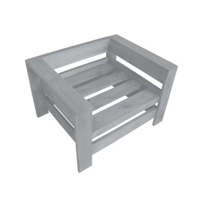 Кресло из поддонов, паллет, стиль Loft (Лофт), натуральное дерево, цвет серый 800*600*500