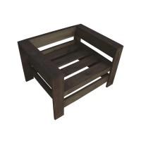Кресло из поддонов, паллет, стиль Loft (Лофт), натуральное дерево, цвет темно-коричневый 800*600*500