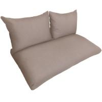 Подушки (матрас) для мебели из поддонов и паллет. Цвет бежевый. Наполнител - пенополиуретановая крошка