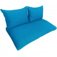 Подушки (матрас) для мебели из поддонов и паллет. Цвет бирюзовый. Наполнител - пенополиуретановая крошка