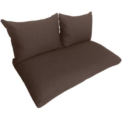 Подушки (матрас) для мебели из поддонов и паллет. Цвет коричневый. Наполнител - пенополиуретановая крошка
