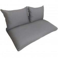 Подушки (матрас) для мебели из поддонов и паллет. Цвет серый. Наполнител - пенополиуретановая крошка
