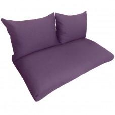 Подушки (матрас) для мебели из поддонов и паллет. Цвет фиолетовый. Наполнител - пенополиуретановая крошка