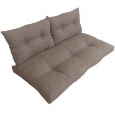 Подушки (матрас) для мебели из поддонов и паллет с пуговицами. Цвет бежевый. Наполнител - пенополиуретановая крошка