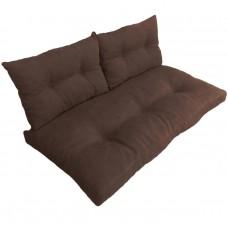 Подушки (матрас) для мебели из поддонов и паллет с пуговицами. Цвет коричневый. Наполнител - пенополиуретановая крошка