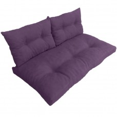 Подушки (матрас) для мебели из поддонов и паллет с пуговицами. Цвет фиолетовый. Наполнител - пенополиуретановая крошка