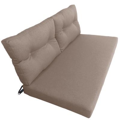 Подушки (матрас) для мебели из поддонов и паллет. Цвет бежевый. Наполнител - поролон. С пуговицами.