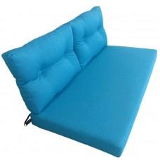 Подушки (матрас) для мебели из поддонов и паллет. Цвет бирюзовый. Наполнител - поролон. С пуговицами.