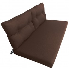 Подушки (матрас) для мебели из поддонов и паллет. Цвет коричневый. Наполнител - поролон. С пуговицами.