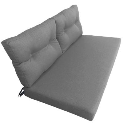 Подушки (матрас) для мебели из поддонов и паллет. Цвет серый. Наполнител - поролон. С пуговицами.