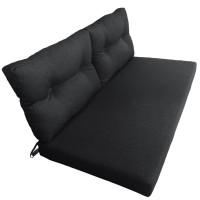 Подушки (матрас) для мебели из поддонов и паллет. Цвет черный. Наполнител - поролон. С пуговицами.