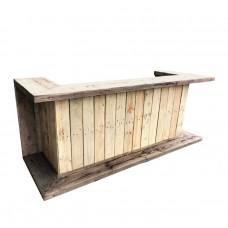 Барная стойка из поддонов, паллет в Loft (Лофт) стиле, П-образная, натуральное дерево