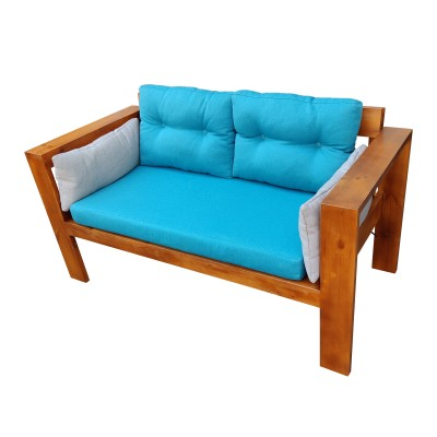 Диван из поддонов и паллет с подлокотниками и подушками, стиль Loft (Лофт)