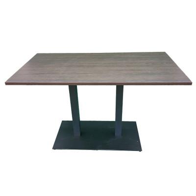 Стол компьютерный с двойной металлической ножкой. Модель ПУ19-2
