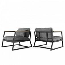 Кресло из метала в Лофт стиле с мягкими подушками. Модель КР010-6