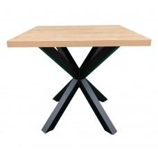 Стол обеденный с устойчивой металлической ножкой. Модель КВ18-6