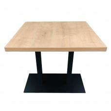Стол обеденный с двойной металлической ножкой. Модель КВ18-8